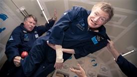 استیون هاوکینگ در فضا